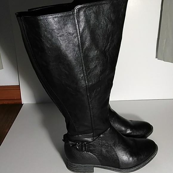 4e0d9da02b2 Maurices Leslie Black Boots 9W Extra Wide Calf. M 5b42817a12cd4abb4cf7f944